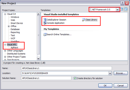 Figure 5: Visual APL templates