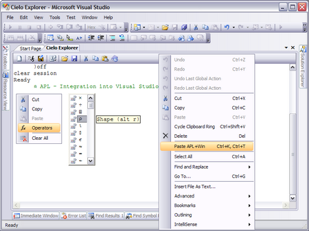Figure 13: Integration in Visual Studio IDE