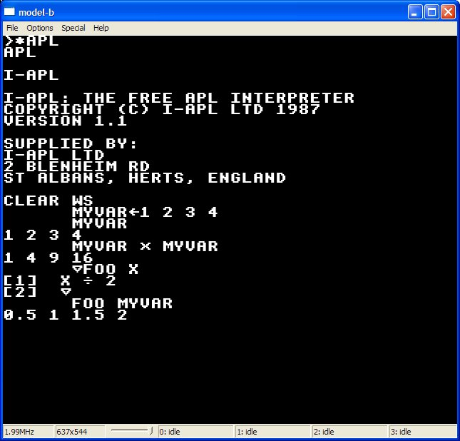 I-APL on the BBC micro
