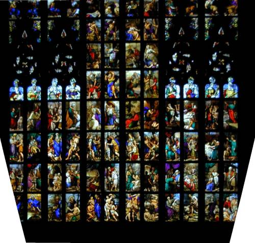 Stained glass window Milan cathedral