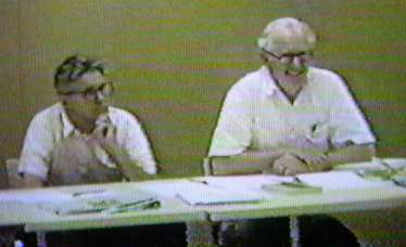 Ken Iverson and Eugene McDonnell at the APL ISO meeting at Princeton University in 1989