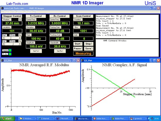 NMR 1D imager – APL Software